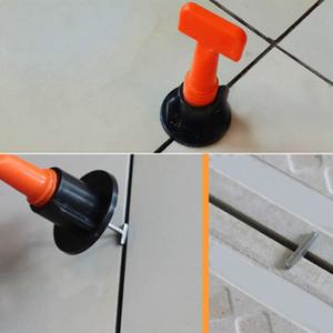 Recién 50pcs de plástico plana de cerámica nivelador de piso Herramientas de construcción de la pared del azulejo reutilizable nivelación Sistema kits MK