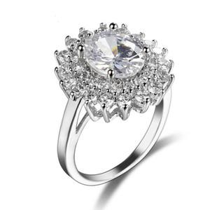 Luckyshine Art und Weise 925 Silber Einzigartige hübsche Und Oval Weiß Topaz am besten für Valentinstag Ring Frau Schmuck Neuer Weddings Ring-freies Verschiffen