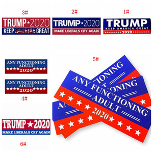 Donald Trump 2020 Car Stickers 7.6*22.9cm Bumper Sticker Keep Make America Great Decal For Car Styling Vehicle Paster 5 Styles BC BH3752