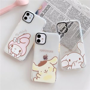 Japanese cute cartoon iphone11pro   xsmax case for iPhone XS   8plus transparent soft shell
