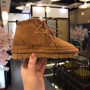 2019 clássico Marca U Designer G Lace-up Casual Meninos Meninas neve Botas Big Crianças G neve botas de pele Integrado Keep Warm Enfant Botas de Inverno