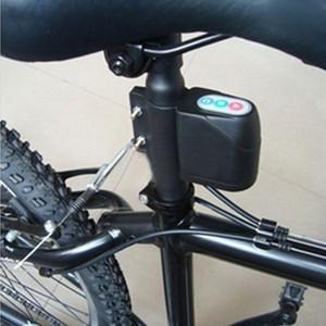 Anti-roubo da bicicleta bloqueio de bicicleta Segurança Bloqueio de chuva à prova de senha Vibração Alarme de Controle de Alarme de bicicleta Mountain Bike Locks