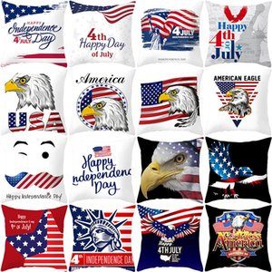 27styles American Independence Day Pillow Case Sofa Cushion Cover Home Decor Seat Pillowcase America Flag Throw Pillow Cover 45*45cm FFA2067