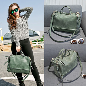 2019 Fashion Female Shoulder Bag PU Leather women handbag Vintage Messenger Bag 4 colors Diaper Bags C6047