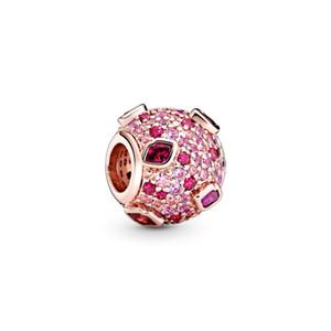 2020 Sevgililer Gül öpücük açacağı Charm 925 ayar gümüş Kalp Charms 788702C01 Toptan Gümüş Bilezikler DIY İçin Kadınlar Güzel takı sığacak