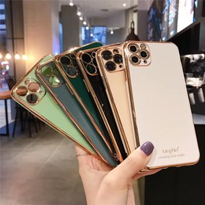 Applicable iPhone 11Pro MAX mobile phone shell Apple 6 7 8Plus plating protective shell X XS XR SE soft shell