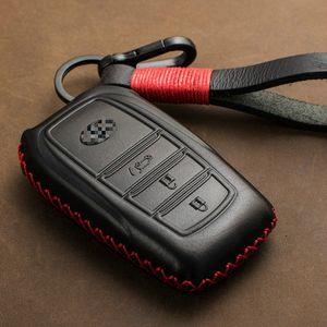 Gerçek Deri Uzaktan Araba Anahtarı Kılıf Kapak Chr Land Cruiser 200 Avensis Auris Corolla 23 Düğmeler Anahtarlık Durum 1 ADET
