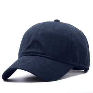 큰 크기 디자인 최고 품질 부드러운 코 튼된 모자 조정 가능한 남자 큰 머리 원주 54-65 센티미터와 블랙 야구 모자 Q190417 SH190712