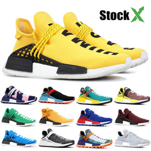 Günstige NMD Pharrell Williams Solar Pack Mutter BBC Mens Womens Human Race Laufschuhe Blass Nude Nerd Creme Designer Turnschuhe Mit Box