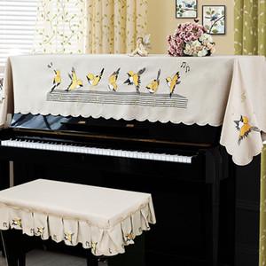 Cubierta de piano con la mitad de la cubierta del estilo del piano heces contienen Cubiertas romántica Natural rural de dibujos animados Europea de encaje mejor prueba de polvo