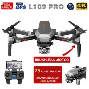 XKJ Yeni GPS Drone L109 Fırçasız Motor ile 4K HD Dual Kamerası Profesyonel Katlanabilir Quadcopter 1000M RC Mesafe Oyuncak PRO