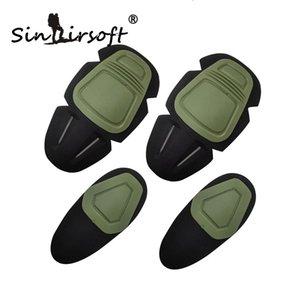 SINAIRSOFT Paintball Airsoft di combattimento G3 di protezione uniformi pantaloni al ginocchio tattico e gomito protezione del ginocchio Gomitiera