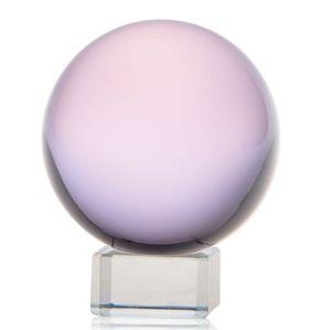 HD 50 milímetros Quartz Crystal Ball Rosa Bola de Cristal Natural Rhinestone Bola Cura Globe Sphere Para Casamento Casa Ornamentos