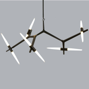 Moderne Lustres moderne Luminaire pour salle à manger Salon Salle de lampes suspendues en verre Librement design / acrylique Ombre