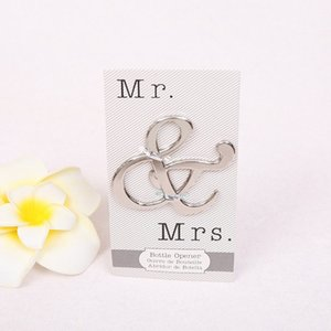 hot Creative Mr and Mrs Ampersand Bottle Openers Favor For Party Supplies Wedding Gift For Guest beer Bottle Opener kitchen tools T2I5710