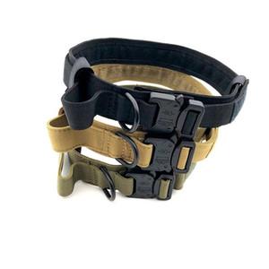 Nylon collier de chien formation collier de chien boucle de collier longueur tactique colliers pour animaux de compagnie réglable fournitures pour animaux de compagnie accessoires