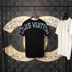 Moda de Luxo Designer de Homens T Camisas Para Homens Tshirt Letras Piscando Manga Curta Mens T Camisas Medusa Camisa