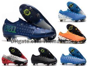 2019 Mens Mercurial vapores 13 XIII Elite SG-PRO AC MDS 001 Zapatos CR7 Ronaldo Neymar NJR Niños futbolistas velocidad Botas de fútbol grapas del US6.5-11