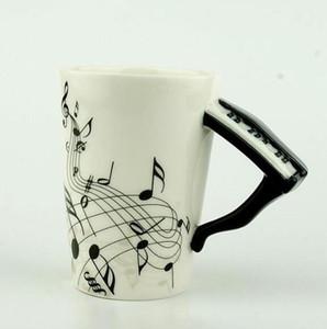 Creative Music violín guitarra del estilo de cerámica taza de café de té de la leche del bastón con mango Copas taza de café de la novedad regalos de la promoción Nuevos
