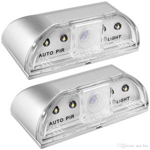 Keyhole luz 4 LED PIR Infravermelho IR sem fio da porta Bloqueio Lamp Sensor Auto Motion Detector de Calor Temperatura Detector Lamp Auto Key Light LED