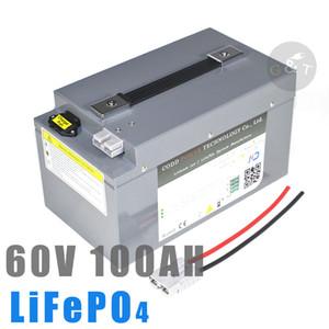 스쿠터 인버터 EV 자전거 세발 자전거 캐러밴 EV + 10A 충전기 60V 100AH의 한 LiFePO4 배터리 BMS 3000W 8000W 10000W 리튬 bateria
