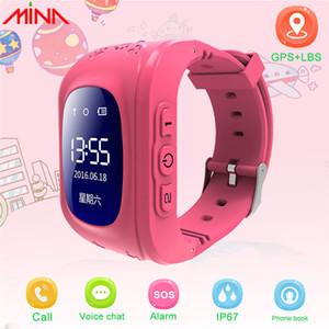 Q50 niños inteligentes GPS del reloj del perseguidor de la localización de llamadas SOS Anti-perdido a distancia Monitor de pulsera para Android Smartphone envío