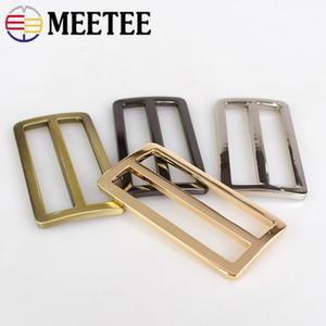 10pcs Meetee 50mm Metal Curved Tri Glide Adjustable Buckles D Ring Belt Square Loop DIY Backpacks Shoes Bags Webbing Sewing Accessory F4-4