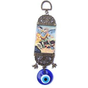 Occhi azzurri pendente del metallo Turchia Ornamento Male Glass Eye impiccagioni Chime lavoro manuale Arts Crafts Widget regalo decorazioni murali 2 6LL C2