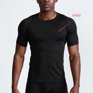 무료 배송 남성 체육관 의류 배드민턴 셔츠 농구 트레이닝 스포츠 실행 통기성 빠른 건조 티 티셔츠 2 색 야외