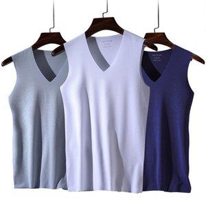 3pcslot mens Unterwäsche Modal V-Ausschnitt atmungsaktiv feste Hemdchen männlichen Tanks Unterwäsche Kleidung Body Männer Unterhemd Körper Shapewear