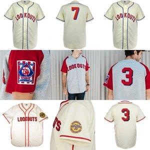 Chattanooga Aussichtspunkte 1951 Home Jersey 100% genähte Stickerei Weinlese-Baseball-Shirts Männer 100% Genähte Blank Baseball Jersey
