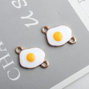 100 шт. / лот позолоченный эмаль браслет серьги брелок Diy подвески 15x22 мм яйцо форма двойной разъем подвески