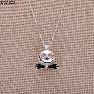 Pesadilla Antes de Navidad Jack Collar Pink Pearl Beads Perla Jaula Colgante Niños Regalo de Navidad Joyería Cosplay Al Por Mayor