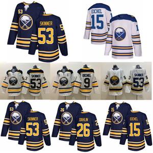 Buffalo Sabres Golden 50th Season Hockey Jersey 9 Jack Eichel Jersey 53 Jeff Skinner 26 Rasmus Dahlin 15 Jack Eichel Jerseys Stitched Mens