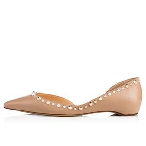 Fashion2019 Fashion dernier single de Sharp Shallow Bouche Rivet à fond plat Chaussures Femmes Chaussures
