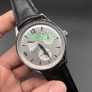 Super Clone Ultrafino Alimentação Display caso de prata mostrador preto relógio automático 1323420 relógios masculinos concisa relógio de homens perfeitos