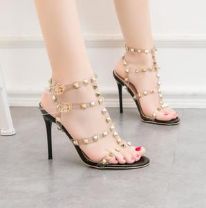 Neue Art und Weise Luxus-Designer-Gold Frauen Schuhe mit hohen Stilettos Hochzeit Schuh billig Brautpartei Sandalen formalen Tanz sexy Abend