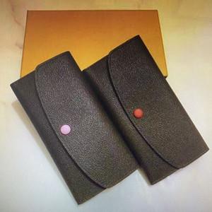 M60697 الكلاسيكية إميلي رفرف زر المرأة طويلة محافظ الأزياء الغريبة الجلود سستة عملة محفظة امرأة حامل بطاقة براثن الحقيبة حقيبة 60697