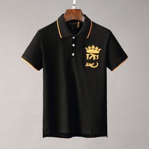 été de luxe Italie T T-shirt Designer Polos High Street broderie couleuvres rayées Peu d'impression abeille Vêtements pour hommes Polo M-3XL
