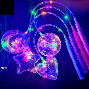 LED Flashing BOBO Ball Transparent Luminous Lighting Balloons Toys Cartoon Handhold Balloon Christmas Party Wedding Decoration GGA2958