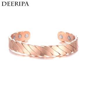 Regalo di rame braccialetto magnetico per gli uomini le donne 6 pc Magnet Salute Bio Energy BRACCIALE Accessori