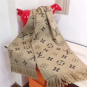Hot vente mode hommes et femmes épais style chaud écharpe châle boutique designer femelle monographique gland foulard châle