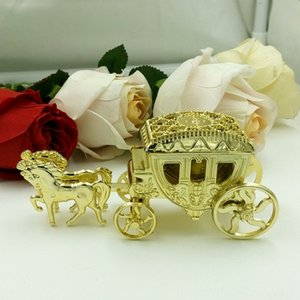 10PCS Married Cinderella Royal Carriage Event & Supplies Festive & Party Supplies Candy Plastic Carriage Candy Box Chocolate Gift Box Birthd