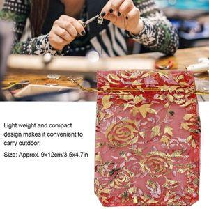 100 piezas mixtas favor de la boda del color de Organza bolsas de regalo bolsas de lazo Organizador para el caramelo joyería del partido deshierbe Bolsa regalo