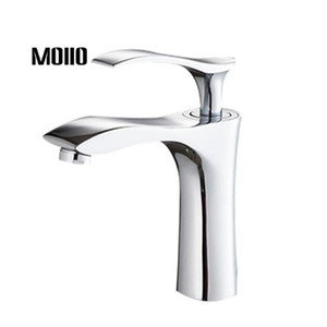 MOIIO bathroom faucet Copper faucet High-end hot and cold water tap Chrome bathroom silent mixer