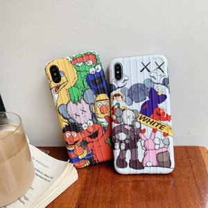 KAWS Sesame Street Case for iPhone 11 PRO MAX 6 6s 6plus 7 8 casi più colore TPU della caramella in silicone per iPhone Funda X Xs Max Xr Coque