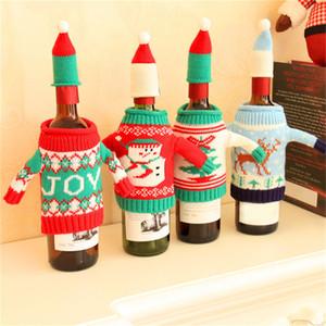 Maglia bottiglia di vino di Natale copertina Champagne Bottiglia di vino Knitting Caso Xmas Knit Wine Beer Bottle Bag
