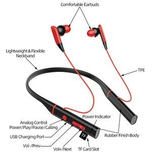 2020 Оптовая Bluetooth 5.0 наушники с микрофоном 24H Playtime, модернизированный Quad-драйвера шейным наушники Ear, Спорт Еа