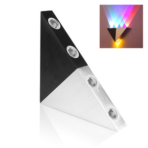 Edison2011 5W 8W Aluminum Triangle Led Wall Lamp AC90-265V High Power Led Modern Home Lighting Indoor Outdoor Party Ball Disco Light