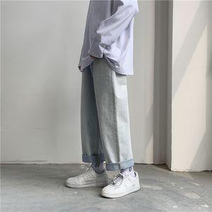 MITEKSAN hombres Streetwear Jeans 2020 modas de los hombres pantalones vaqueros coreanos Harem ocasional de personalidades del estiramiento delgado Vaqueros sobredimensionar